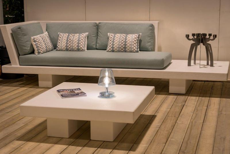 Betonlook loungebank - Base XLight - Grijs