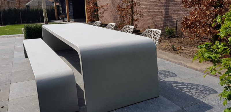 Betonlook tafel Slider