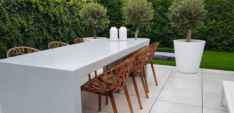 Betonlook tafel - Booster - Wit (5)