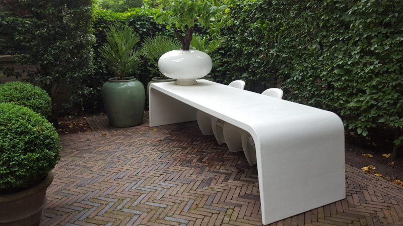 Betonlook tafel Slider - Wit (2)