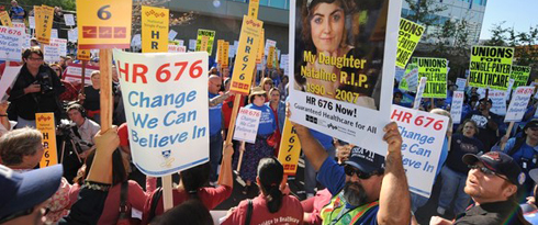 Rally for Single Payer Healthcare in L.A.