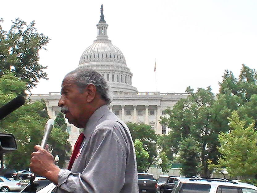Conyers at Rally by R. Schmetzer