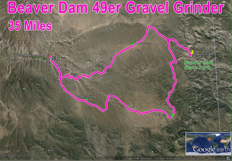 Gravel Grinder 35 Mile Route Map