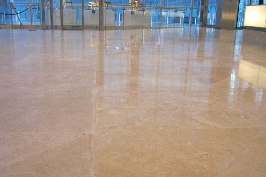 non slip stone floor
