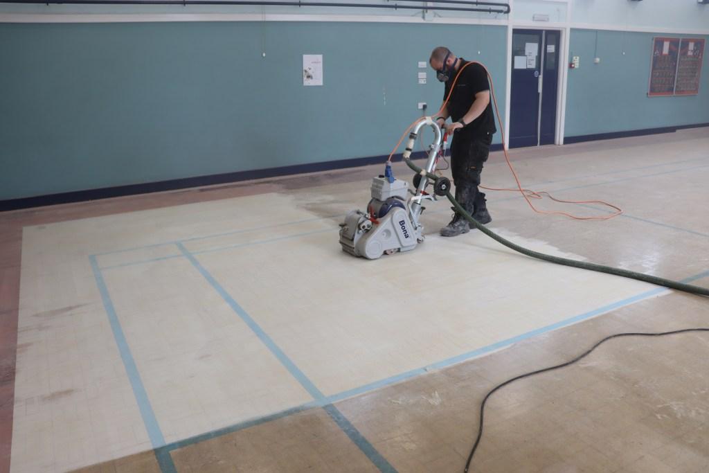 Granwood Floor Restoration, Belt Sander