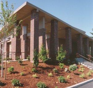 front entrance to Beaverton Baha'i Center