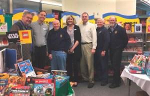 Rotarians at a school Book Fair
