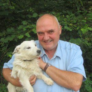 Chris Jones Director Beaver Trust and his dog