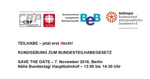 Teilhabe jetzt - Save The Date