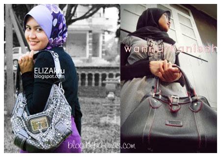 Pemenang tempat pertama dan ke-2 Contest Melaram dengan Handbag