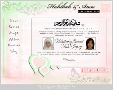 web perkahwinan