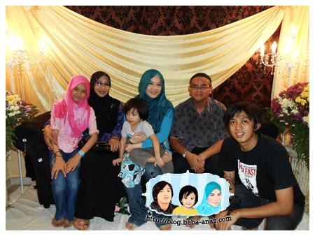 gambar family depan pelamin