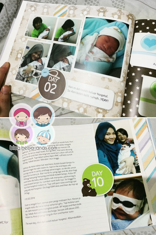 Azri's First 50 days photobook - day 2 and 10