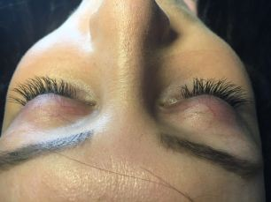 after with eyelash extensions