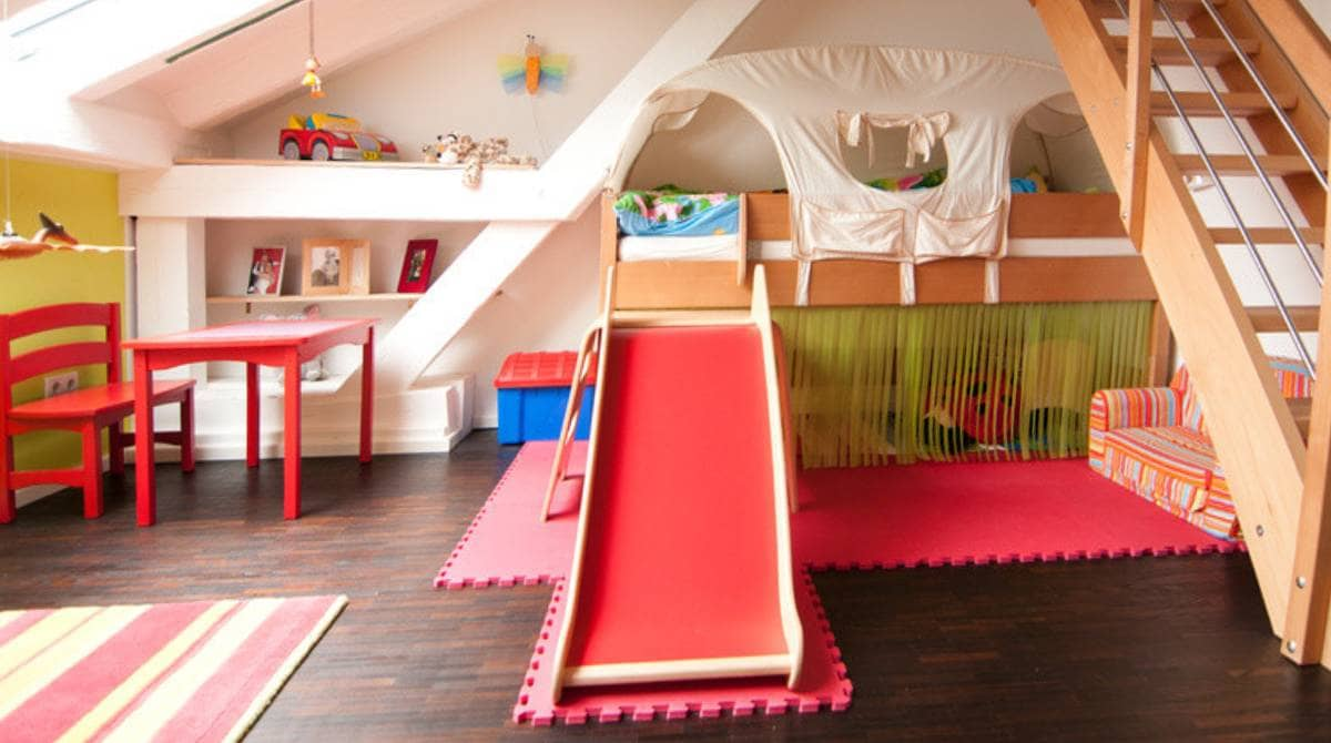 lit cabane avec toboggan bonne ou