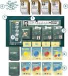 componentes Subatomic juego de mesa de química