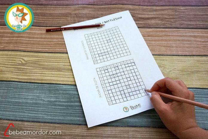 juegos con papel y lápiz Hundir la flota