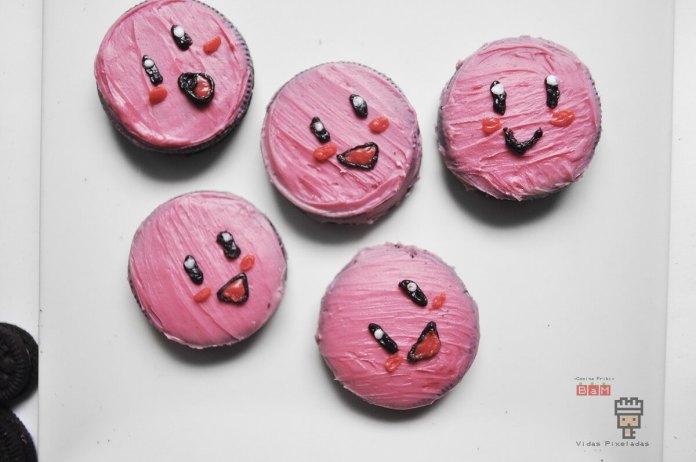 galletas oreo rosas de Kirby