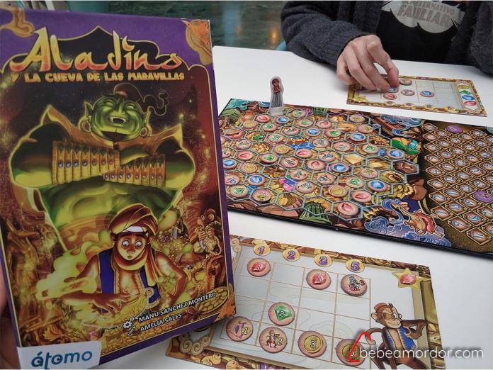 juego de mesa Aladino de Manu Sánchez átomo