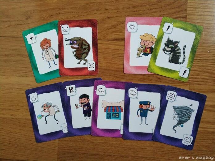 cartas de estado y de acción en juego de mesa MAscotas