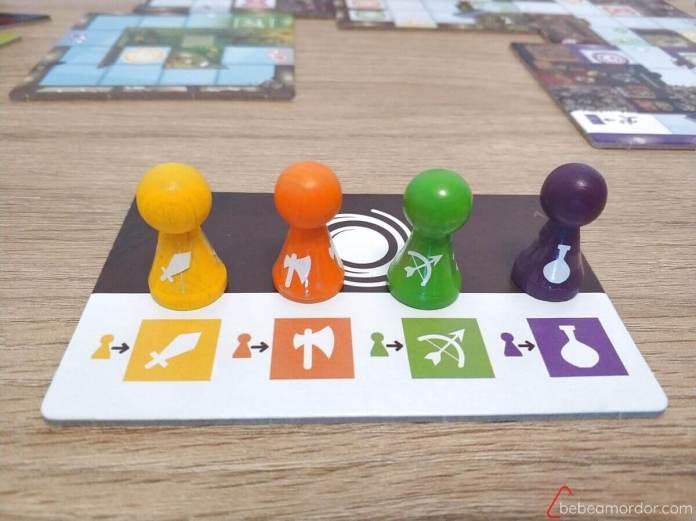 Magic Maze juego de mesa adaptado a daltonismo