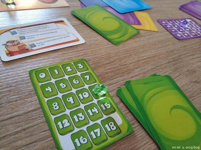 sistema de puntuación con números y gema