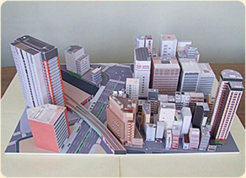 maqueta Akihabara Tokyo con papel