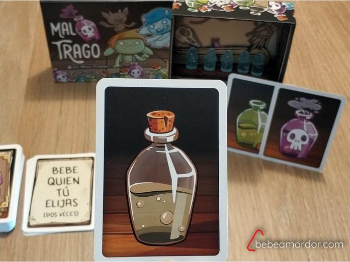 Pociones para beber en juego de mesa Mal Trago
