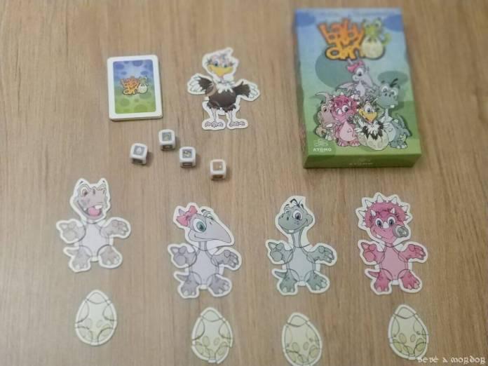 componentes juego de mesa Baby Dino
