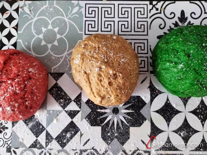 masa galletas de nata dee colores