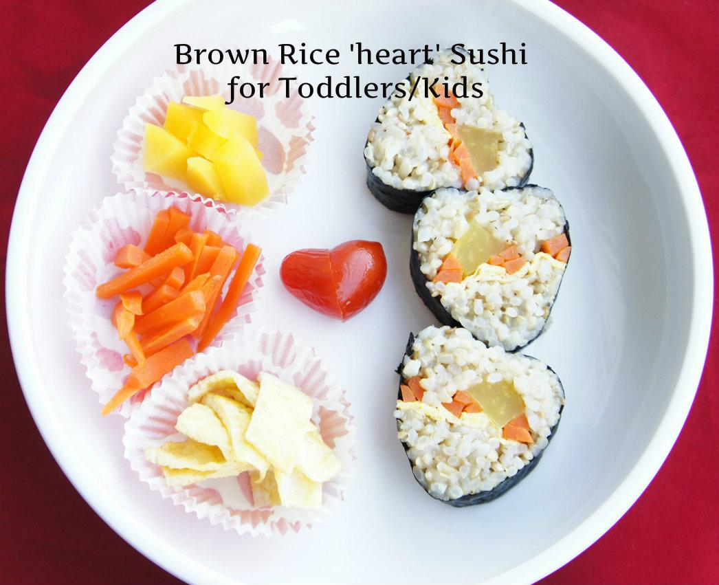 Brown Rice 'Heart' Sushi