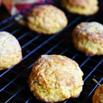 Warm Flaky Healthy Pumpkin Biscuits
