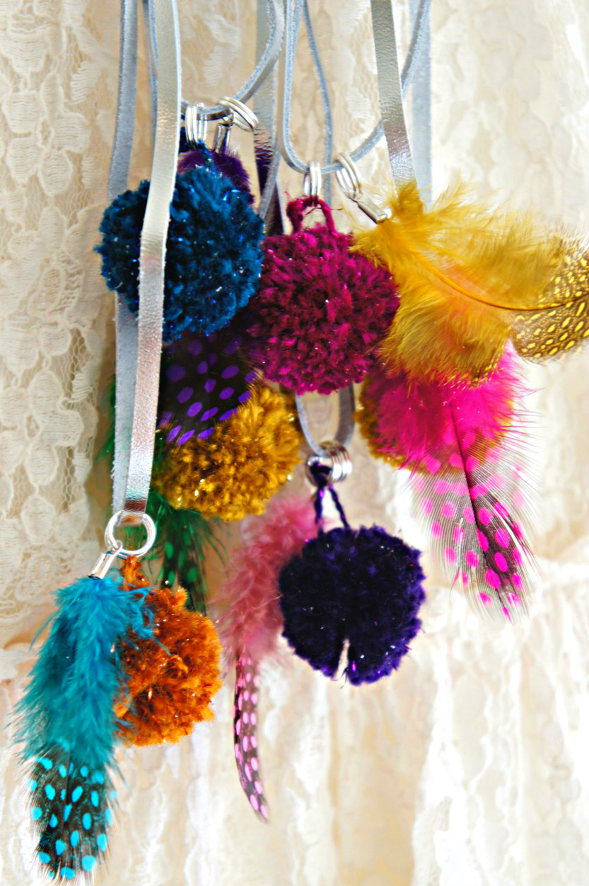 Part Two: Pom Pom, Feather Necklaces for Kids