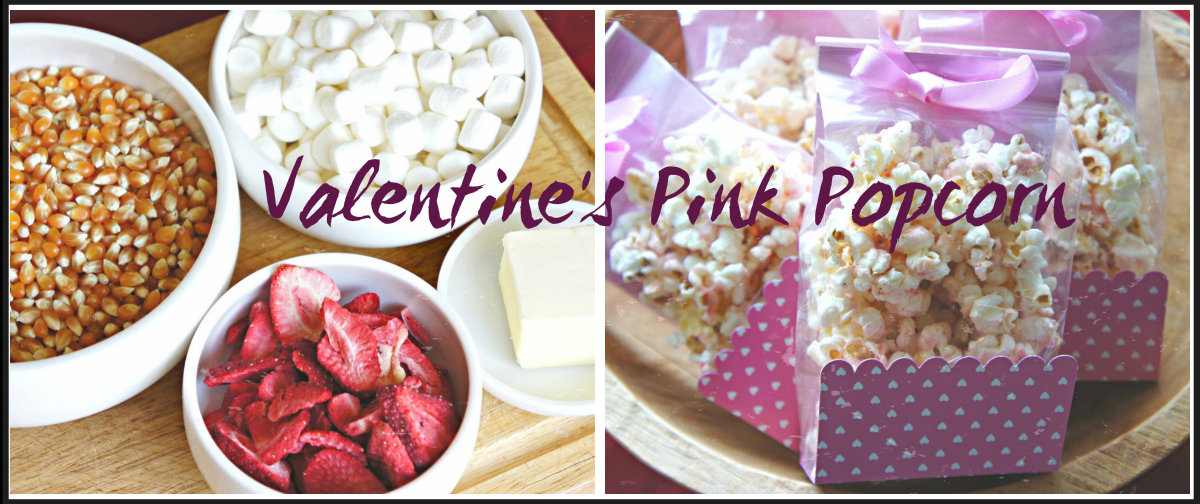 Strawberry PINK Popcorn: No Food Coloring!