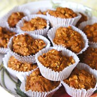 Oatmeal Pumpkin Mini Muffins