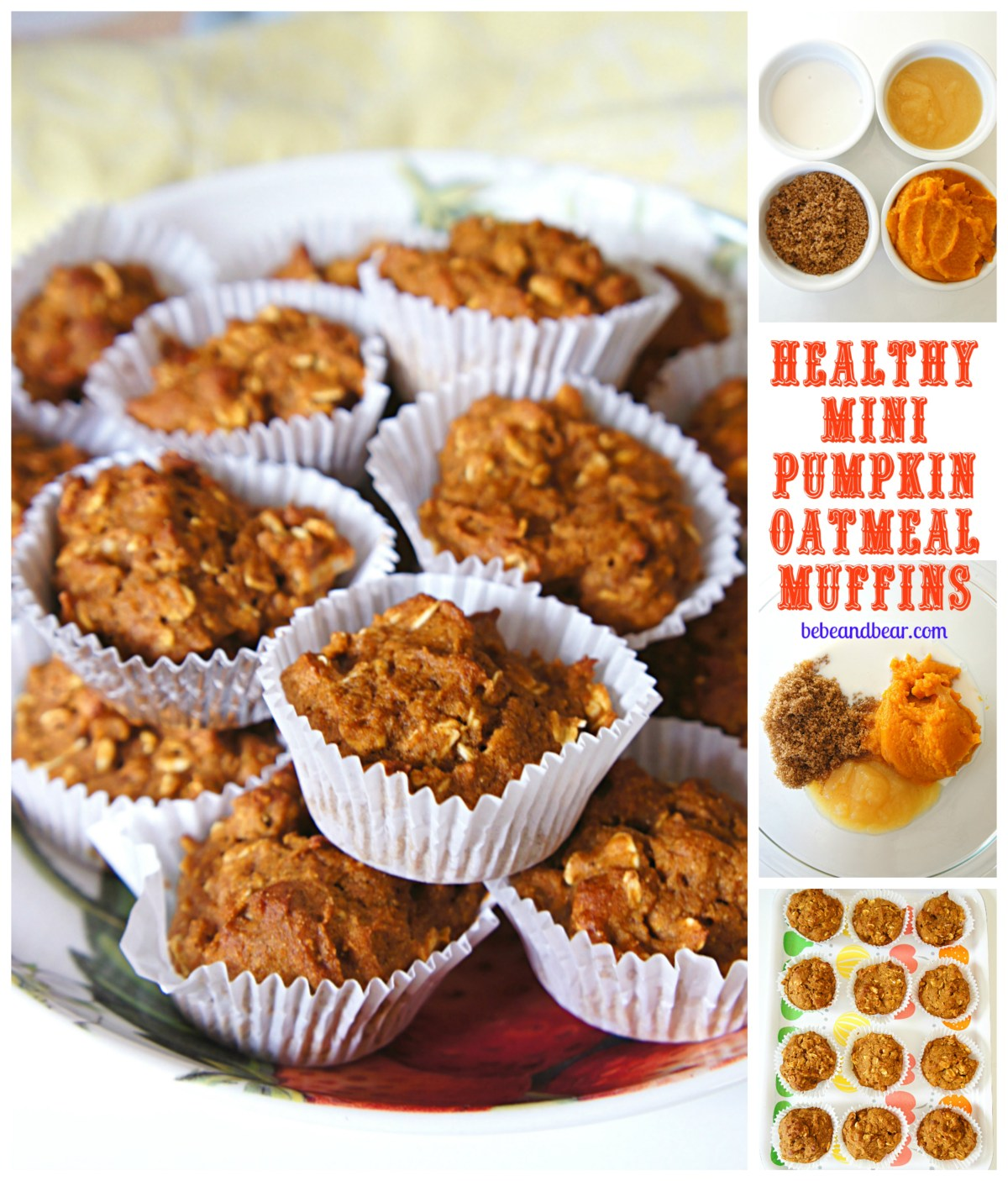 Mini Pumpkin Oatmeal Muffins