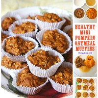 Healthy Mini Oatmeal Pumpkin Muffins