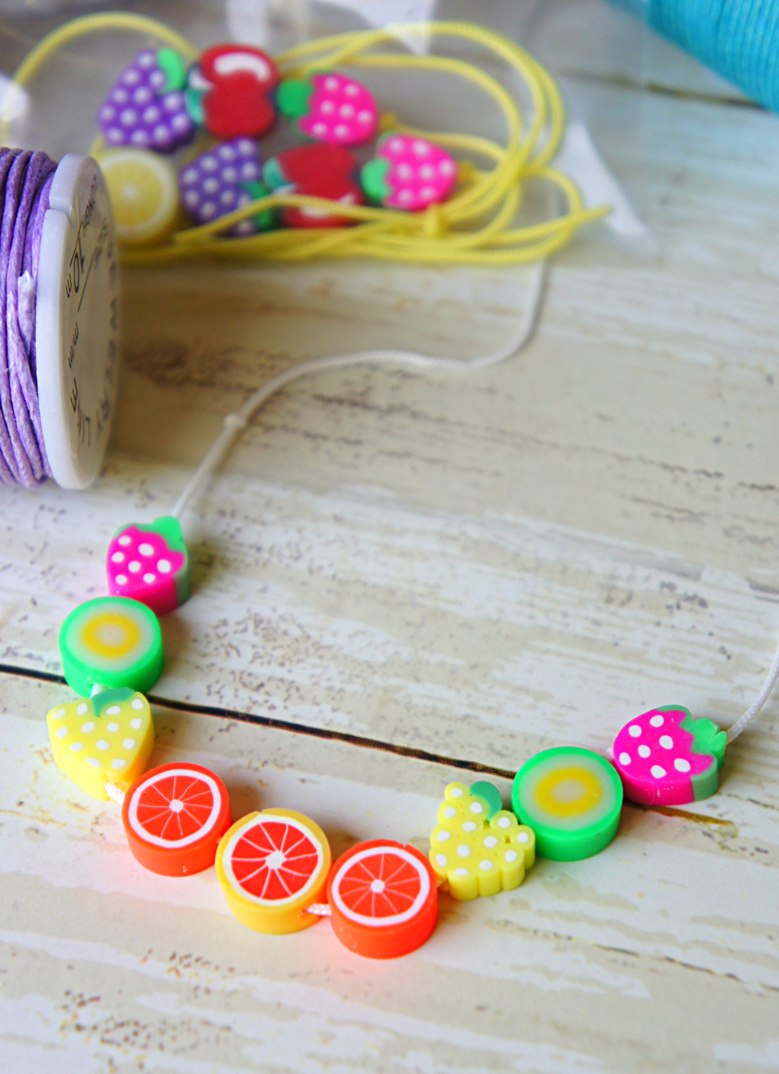 Summer Fruit Bead Necklaces