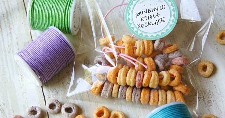 Fun Rainbow O's Edible Necklaces for Kids