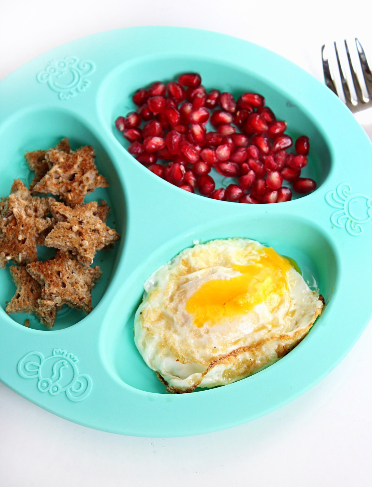 The perfect over easy egg, toddler/kid breakfast ideas.
