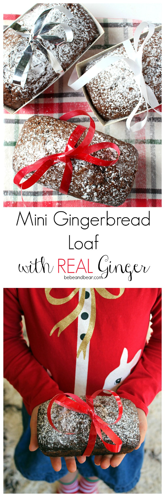 Mini Gingerbread Loaf with Real Ginger
