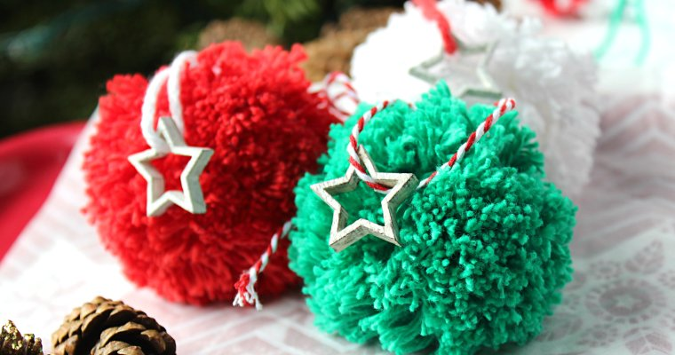 Pom Pom Ornaments For the Christmas Tree