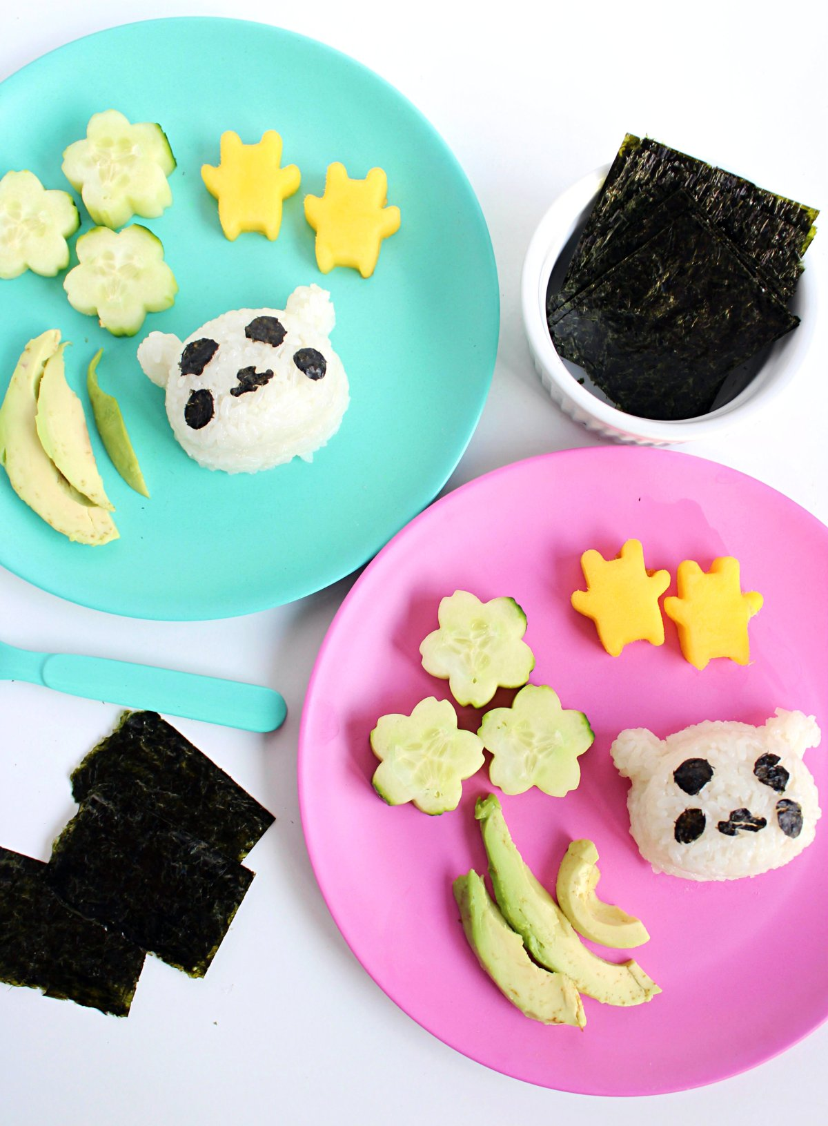 DIY Panda sushi for kids and toddlers.
