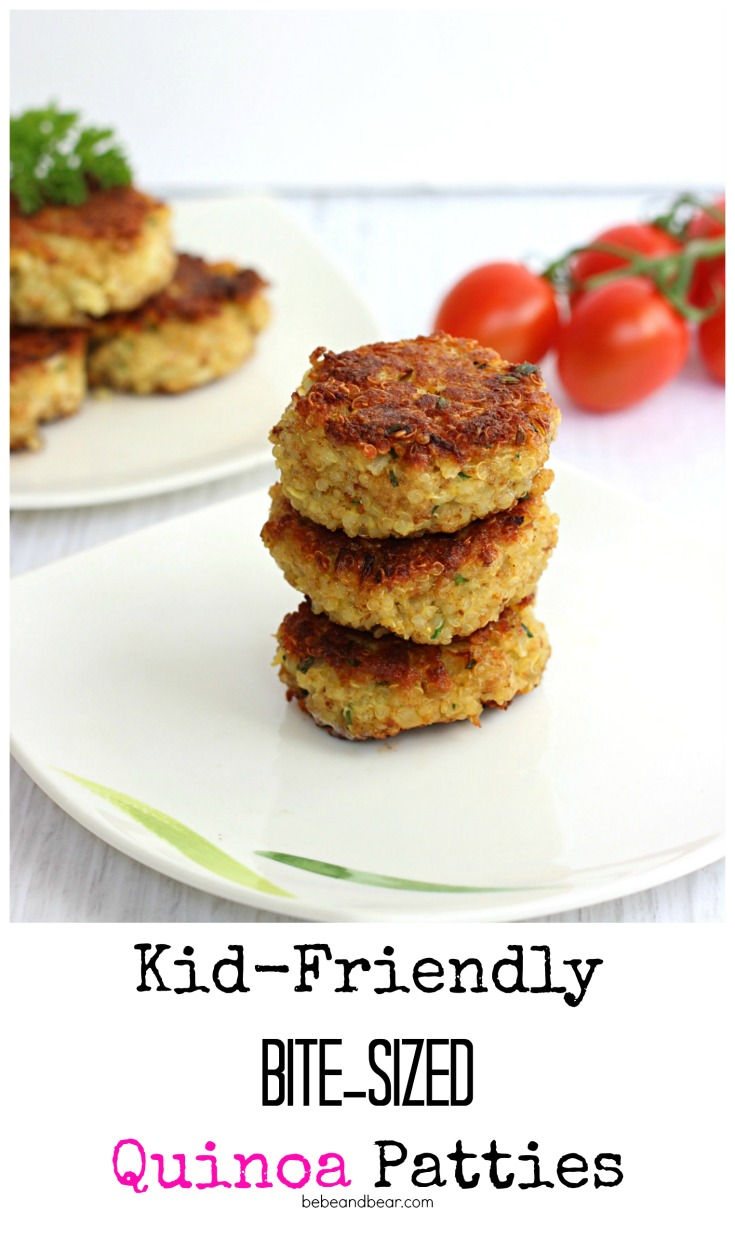 Kid friendly healthy quinoa patties.