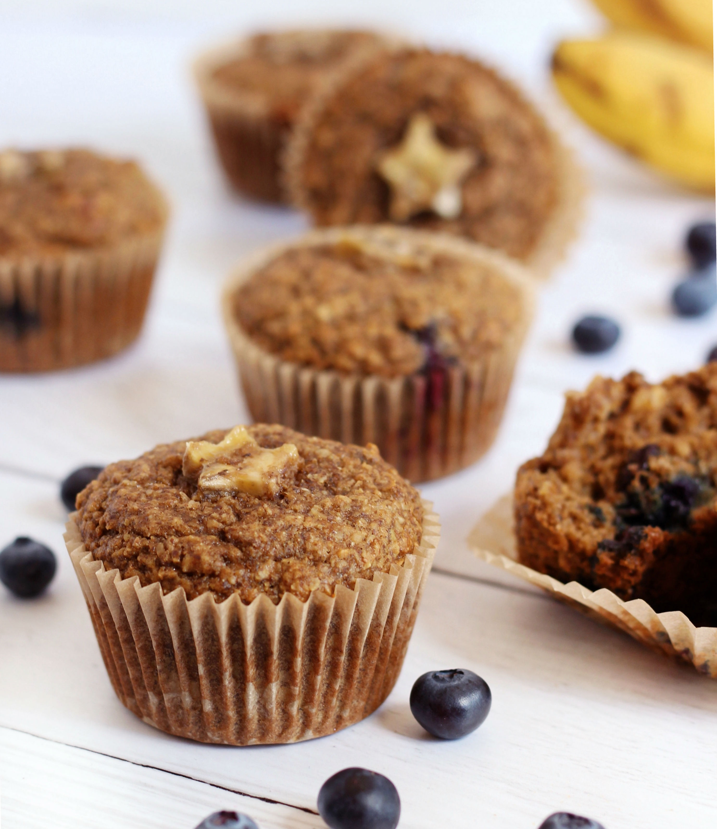 Dairy Free Blueberry Banana Muffins