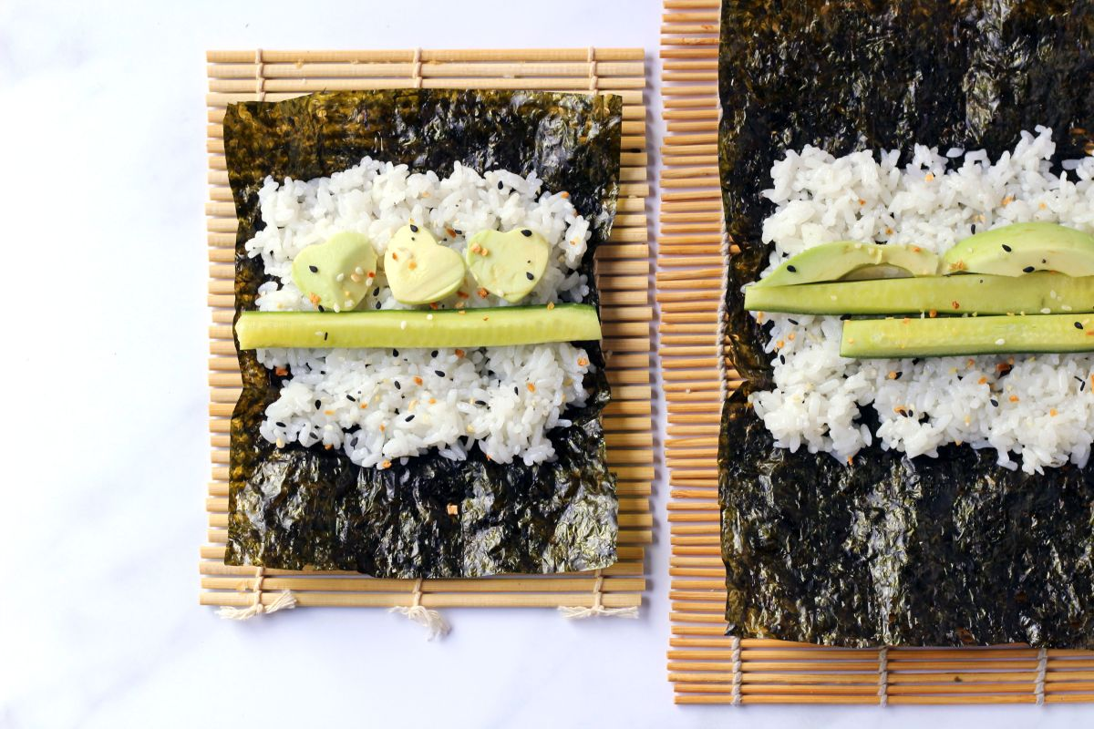 Make your own vegetarian sushi rolls for the kids and the whole family.