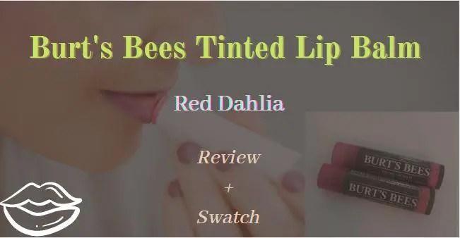 Burt's Bees Tinted Lip Balm Red Dahlia