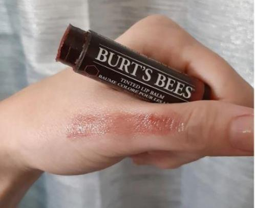 Shade of Red dahlia tinted lip balm