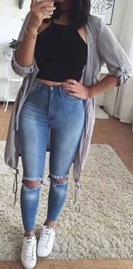 Casual And Stylish Fall School Outfits Ideas For Teens 23