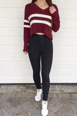 Casual And Stylish Fall School Outfits Ideas For Teens 24